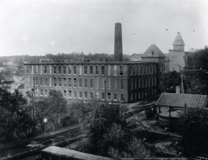 First to have electric lighting in the state, Arista Cotton Mill.  Image courtesy of Digital Forsyth.