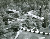 (Click to view larger). Aerial view of campus in 1940