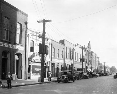 Automobiles on Wilmington Street in Raleigh, NC. 1926.