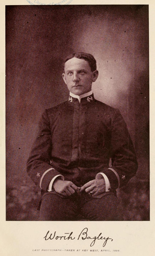 "Photograph of Worth Bagley from ""The first fallen hero, a biographical sketch of Worth Bagley, ensign, U.S.N."""