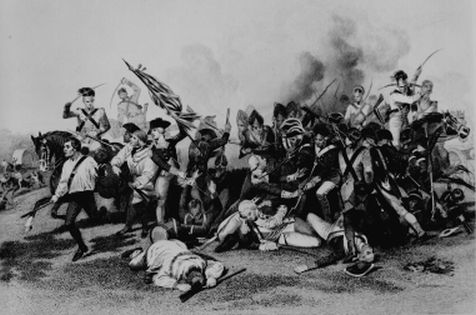 """Battle of Camden, Death of De Kalb."""