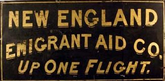 New England Emigrant Aid Company. Image courtesy of the Kansas Historical Society.
