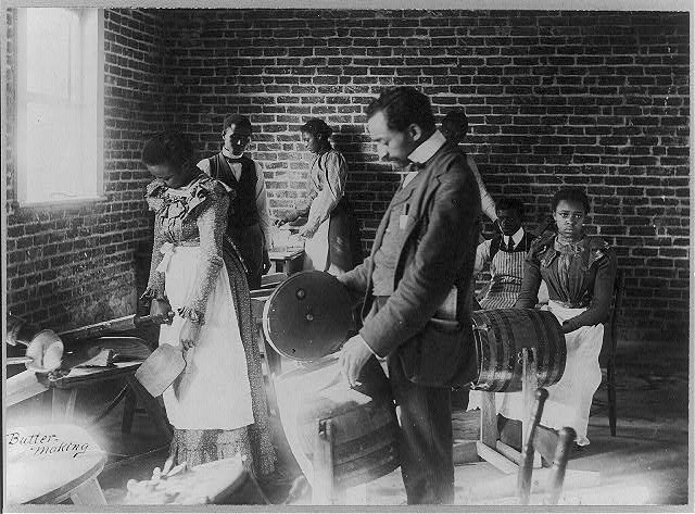 Butter making at Agricultural and Mechanical College, Greensboro, N.C, 1899. Image courtesy of University of Miami.