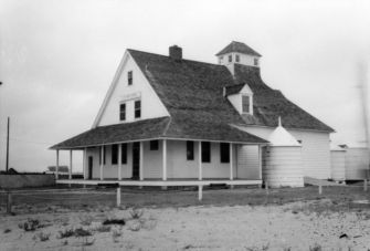 """View, Caffey's Inlet Lifesaving Station, Dare County, North Carolina, 1897."" Image courtesy of NCSU libraries."