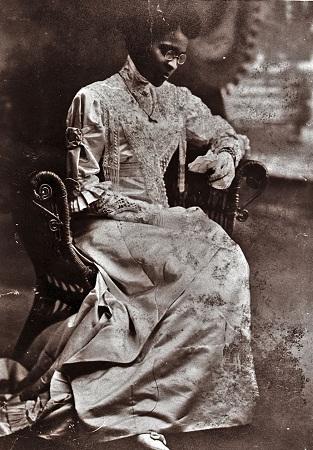 Wedding photo of Charlotte Hawkins Brown, 1912.