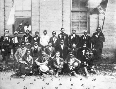 Reunion of Cherokee Confederates,  From the General Negative Collection, North Carolina State Archives, Raleigh, NC. Call #: N_56_3_52.