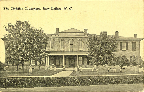 The Christian Orphanage, Elon, North Carolina. Image courtesy of the Belk Archives & Special Collections.