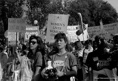 "Duke Yearlook. ""Women's Rights Demonstration, 13 November 1989."""
