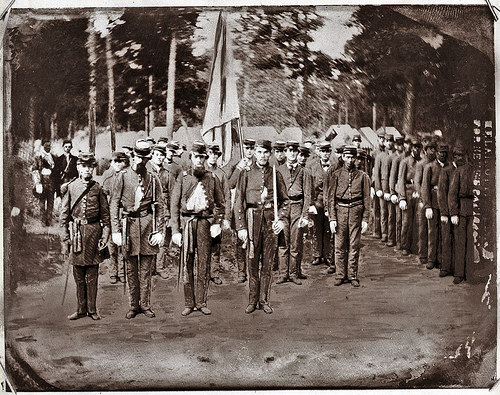 Confederate Soldiers, E 20the Regiment NCT, Duplin Co. From the General Negative Collection, North Carolina State Archives, call #:  NO_53_3_80 Confederate Flag of 18th NC Mar 1 1953  From the General Negative Collection, North Carolina State Archives, Raleigh, NC. NO_53_3_80 Confederate Flag of 18th NC Mar 1 1953  From the General Negative Collection, North Carolina State Archives, call #: N_61_10_4.