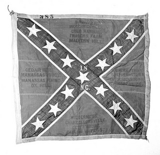 NO_53_3_80 Confederate Flag of 18th NC Mar 1 1953  From the General Negative Collection, North Carolina State Archives, Raleigh, NC.