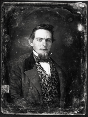 """Daguerreotype depicting Mr. Hand James seated for portrait."" Call #: P0008/0014, in the Daguerreotype Collection, North Carolina Collection Photographic Archives, The Wilson Library, University of North Carolina at Chapel Hill."