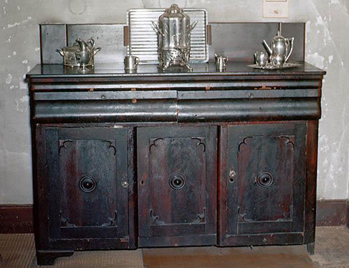 Sideboard made by Tom Day in the house of Romulus Saunders in Milton, NC.