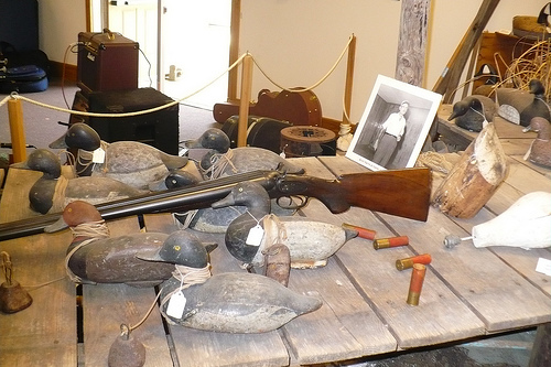 """Handmade duck decoys"", Core Sound Waterfowl Museum & Heritage Center, Harkers Island.  Image courtesy of Flickr user denseatoms."