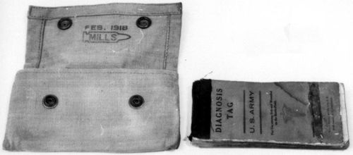 """Diagnosis tag book."" 1917-18. Made by William J. Brewer. NC Museum of History. Accession No. H.1961.63.124."