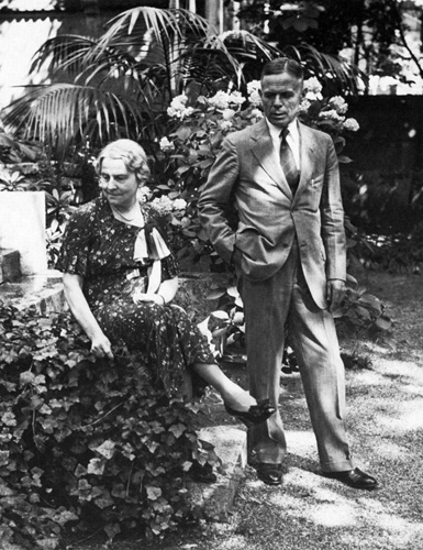 """William E. Dodd and his wife Martha in the garden of the American embassy, Berlin, ca. 1935."" Image courtesy of the University of Chicago."
