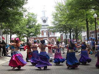 Bellydancers at Dogwood Festival, Fayetteville, NC. Image courtesy of Flickr user Selena M.B.H.