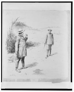 The Duel, 1887. Created by E.W. Kemble. Courtesy of Library of Congress.