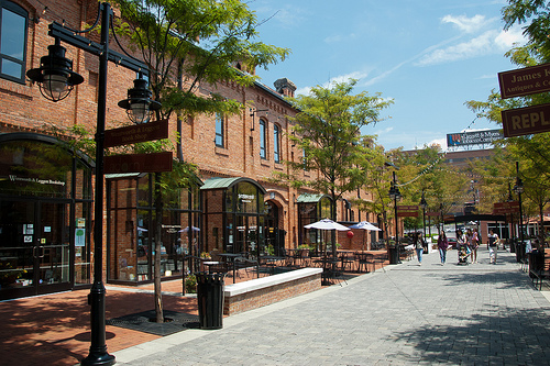 """Brightleaf Square."" Brightleaf District, Durham, NC, US, July 5, 2011. Available from: Flickr Commons user  Eric Allix Rogers."
