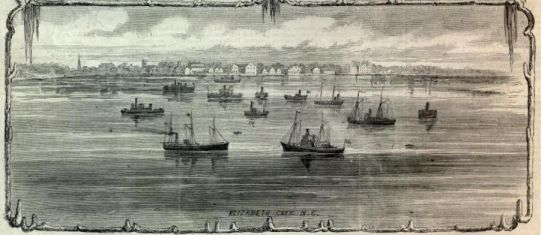 The Mosquito Fleet, Elizabeth City, NC. Harper's Weekly, March 15, 1862.