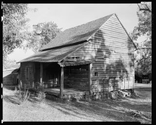 """John Knox Emigrant Cabin, Salisbury vic., Rowan County, North Carolina, 1938."" Image courtesy of Library of Congress."