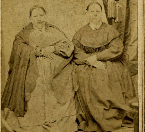 Adelaide Bunker and Sarah Bunker married the twins. Courtesy of the University of North Carolina at Chapel Hill. Library, Southern Historical Collection.