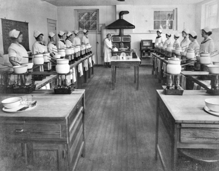 Kitchen of the Cary Public and Farm-Life School, ca. 1916. Courtesy of North Carolina Office of Archives and History, Raleigh.