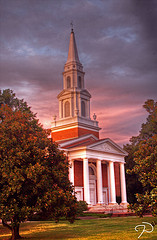 First Baptist Church in Greensboro still regularly holds church homecomings. Image courtesy of Flickr user Jim Dollar.