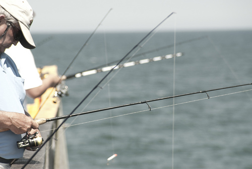 Fishing on the Outer Banks. Image courtesy of Josh Self.