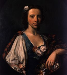 Flora MacDonald; painting by Allan Ramsay. Image available from NC Museum of History.