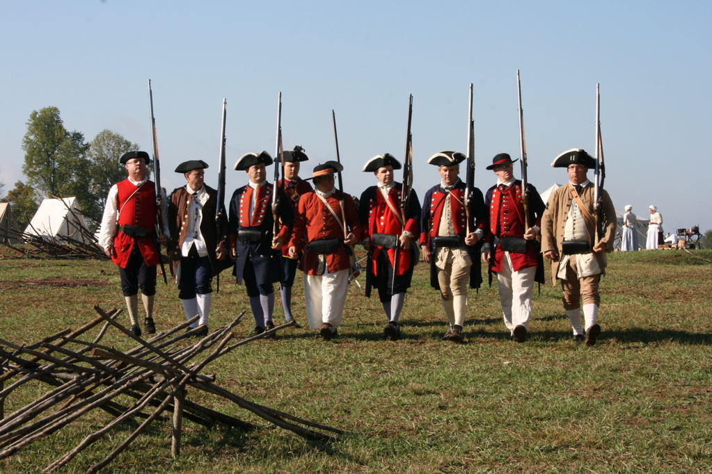 Re-enactors at Fort Dobbs
