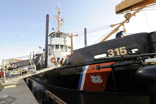 The CGC Smilax, the Coast Guards oldest cutter at Fort Macon, 2011. Image courtesy of the U.S. Coast Guard.