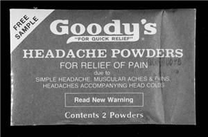Photo of an old Goody's Headache Powder sample