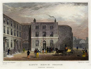 "Thomas Shepard, ""King's Bench Prison, Principal Entrance,"" ca. 1828"