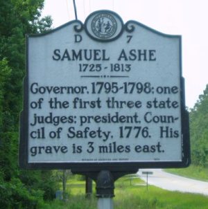 NC historical marker commemorating the life of Samuel Ashe