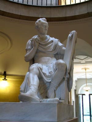 Antonio Canova's statue of George Washington as a Roman general in the North Carolina State Capitol building.