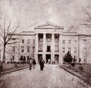 Govenor David S. Reid, ca.1861, in front of State Capitol, was instrumental in the free suffrage movement. Image courtesy of the North Carolina State Archives; N-55-10-16.