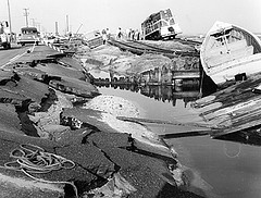 Damage from a 1960 NC hurricane. Image courtesy of the State Archives of NC.