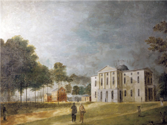 Watercolor of first state house