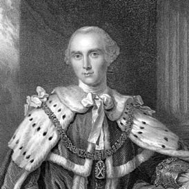 John Stuart, the 3rd Earl of Bute, for whom Bute County was named. Image from the North Carolina Highway Historical Marker Program.