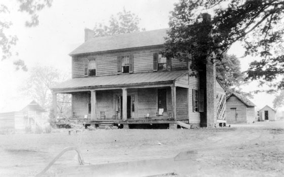 The Osborne Giles Foard Home near Cleveland, N.C. where Peter Stewart Ney lived and died.  Image used courtesy of the North Carolina Museum of History, North Carolina Department of Cultural Resources.