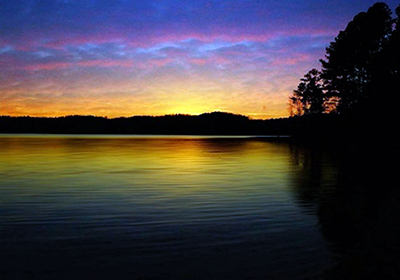 Scenic Sunset, Jordan Lake State Recreation Area, by Melissa Theil, March 8, 2015.  State Parks Collection, NC Digital Collections. Prior permission from the North Carolina Division of State Parks is required for any commercial use.