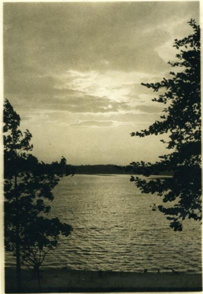 Photograph of Lake James, ca. 1920-1930, associated with William D. Kinyiah, Spencer, N.C. Item H.19XX.321.24, collection of the North Carolina Museum of History.