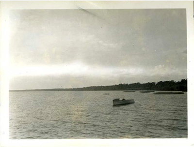 Boats on Lake Phelps, 1936, by William Daniels. Item H.1952.96.68 from the collection of the North Carolina Museum of History. Used courtesy of the North Carolina Department of Natural and Cultural Resources.