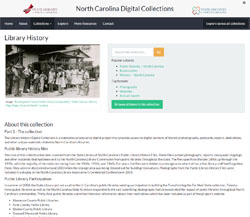 Click on this image to search for images and documents in the digital North Carolina Library History collections on North Carolina Digital Collections.