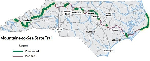 north carolina mountains to sea trail ncpedia
