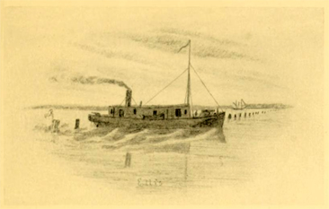 Drawing of the gunboat CSS <i>Ellis</i>, from Charles Johnson's 1911 <i>The Long Roll,</i> published by the Roycrofters, plate XXIV.  William T. Muse served as the first commander of the <i>Ellis</i>.  Charles Johnson was a Union soldier serving in the New York Volunteers.