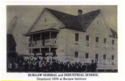 Burgaw Normal and Industrial School, ca. 1900s. Image courtesy of Pender County Public Library