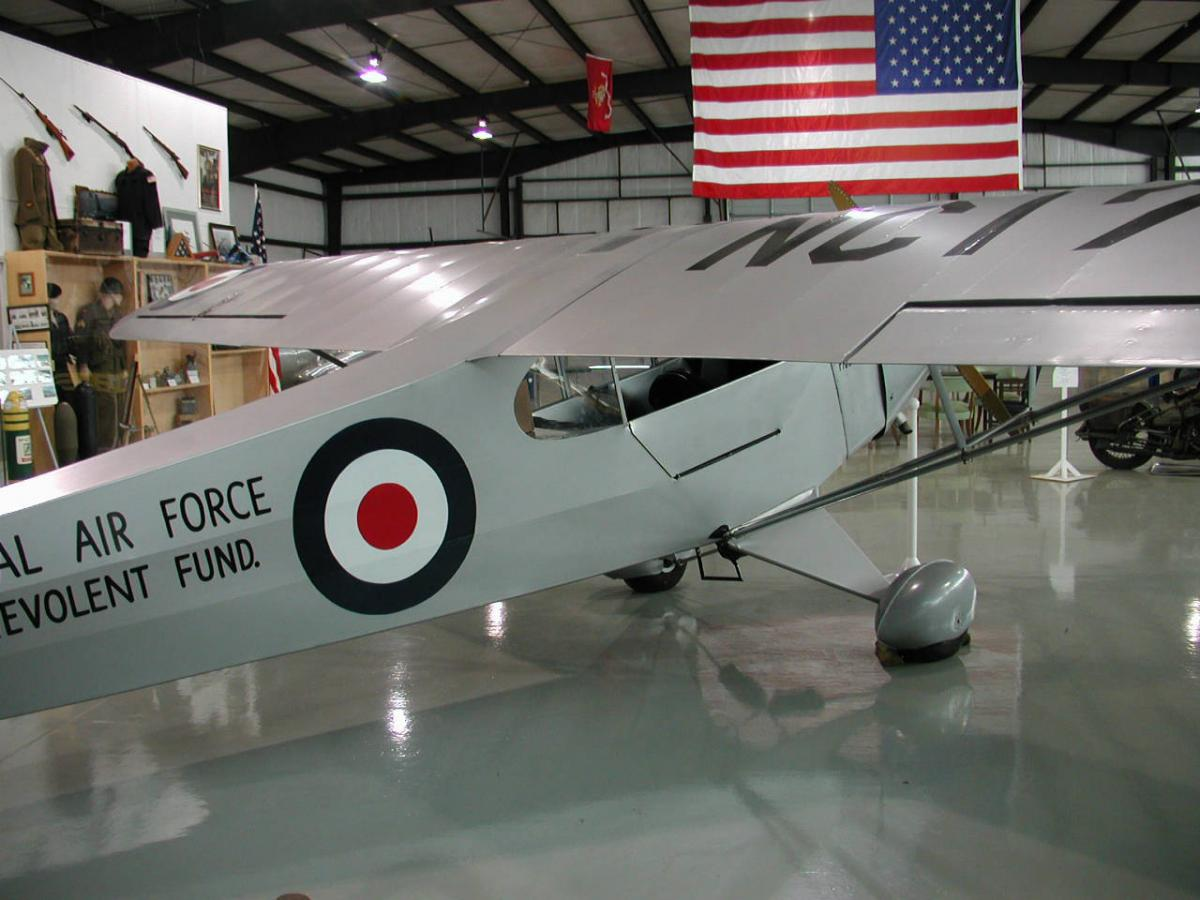 Photograph of an airplane flown by Orville Wright. From the North Carolina Aviation Museum and Hall of Fame, Asheboro, N.C., April 20, 2005. Image from the NC ECHO Collection at NC Digital Collections.