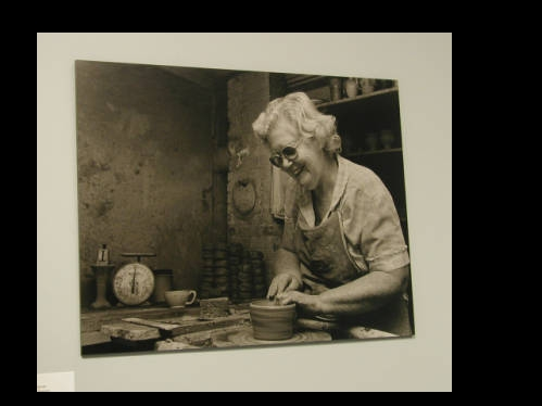 Dorothy Auman at Seagrove Pottery, April  18, 2005.  From the NC ECHO Project, North Carolina Department of Culture Resources on NC Digital Collections.