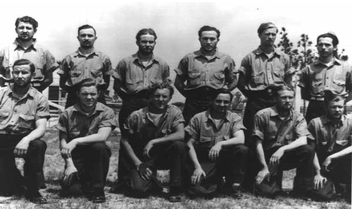 Crew members of the German U-352, captured in May 1942 off the North Carolina coast after the U.s. Coast Guard sand their vessel, became prisoners of war held at Fort Bragg.